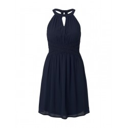 Mini chiffon dress with lace by Tom Tailor Denim