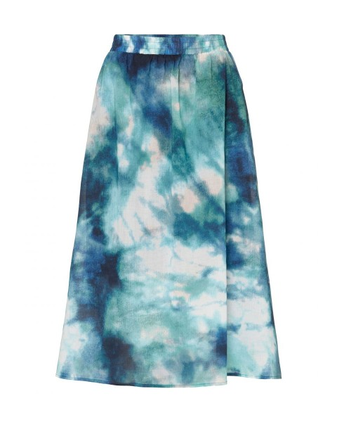 Skirt made from printed voile fabric