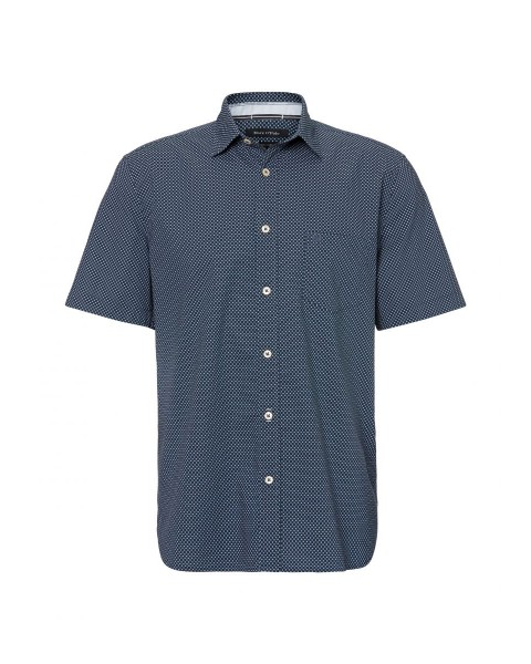 Regular fit short-sleeve shirt with an all-over mini print