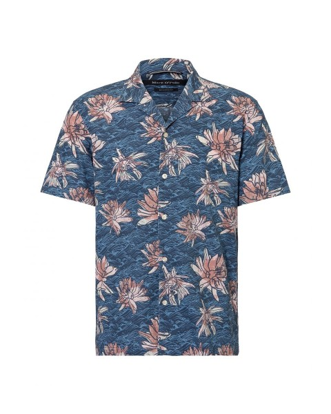 Relaxed short sleeve shirt made from pure cotton fabric