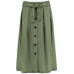 Midi skirt with a button placket by Taifun