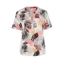 Short sleeve blouse with an all-over print by s.Oliver Red Label