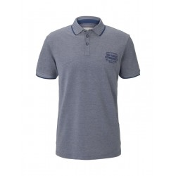 Two-tone polo shirt with small embroidery by Tom Tailor