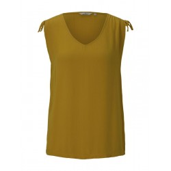 Sleeveless blouse with shoulder details by Tom Tailor