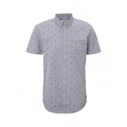 Textured short-sleeved shirt with a chest pocket by Tom Tailor Denim