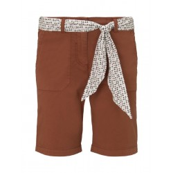 Chino relaxed Bermuda shorts with a tie belt by Tom Tailor