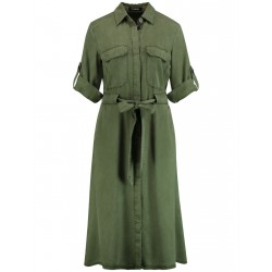 Shirt dress with a tie-around belt by Taifun