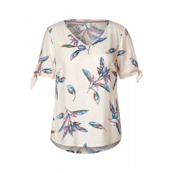 Bluse mit Blättermuster by Cecil