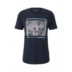 T-shirt with a palm tree print by Tom Tailor Denim
