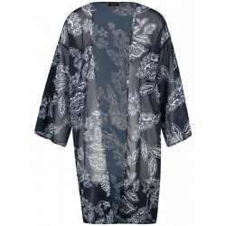 Open-fronted long blouse with a floral print by Taifun