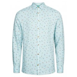 Modern fit: linen shirt by Colours & Sons