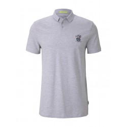 Polo with chest embroidery by Tom Tailor Denim