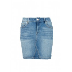 Denim skirt with a garment-washed effect by Q/S designed by