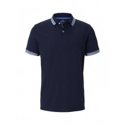 Poloshirt mit Kontrastblende by Tom Tailor
