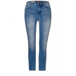 Hellblaue High Waist Denim by Street One