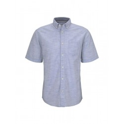 Patterned short-sleeved shirt with texture by Tom Tailor