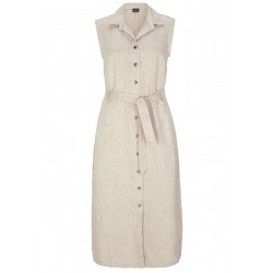 Linen dress with shiny buttons by s.Oliver Black Label