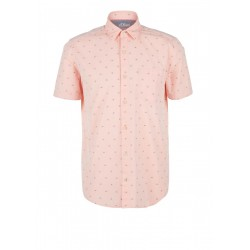 Regular Fit : chemise à manches courtes en chambray by s.Oliver Red Label