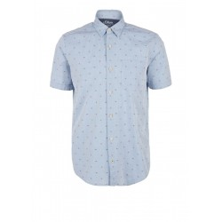 Regular Fit: short sleeve shirt made of chambray by s.Oliver Red Label