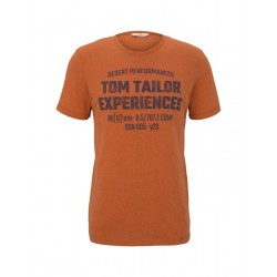 Mottled T-shirt with a print by Tom Tailor