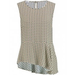 Blouse top with an asymmetric hem by Gerry Weber Collection