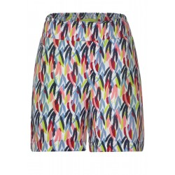 Paperbag-Shorts avec motif by Street One