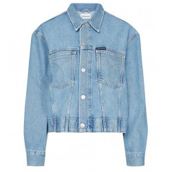 Cropped oversize Jeansjacket by Calvin Klein