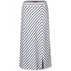 Midi-skirt with stripes mix by Street One