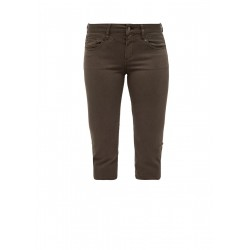 Slim Fit: Caprijeans mit Sattelbund by Q/S designed by