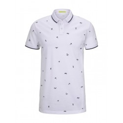 Polo mit Muster by Tom Tailor Denim