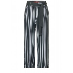 Wide Leg Hose mit Muster by Street One