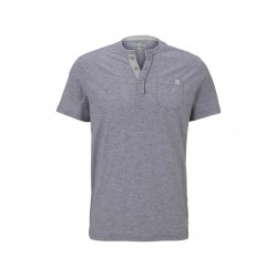 T-shirt rayé Henley by Tom Tailor