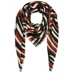 Scarf with a stripe pattern by Taifun