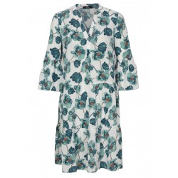 Floral dress with flounce sleeves by s.Oliver Black Label