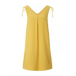 Sleeveless chiffon dress with shoulder details by Tom Tailor