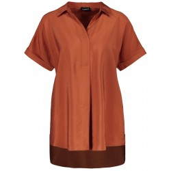 Tunic with short sleeves by Taifun
