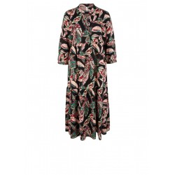 Tiered dress made of viscose by Q/S designed by