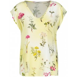 Blouse top with a V-neckline by Gerry Weber Casual