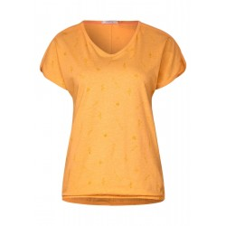 T-shirt in melange-look by Cecil