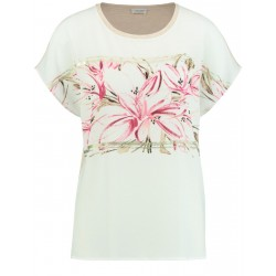 T-shirt mit floralem Print by Gerry Weber Collection