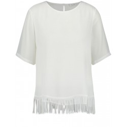 Blouse top with a frayed hem by Gerry Weber Collection