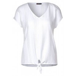 T-shirt with lace details by Street One