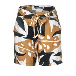 Paperbag-Shorts mit Muster by Street One