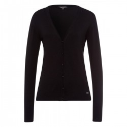 Cardigan mit V-Ausschnitt by More & More