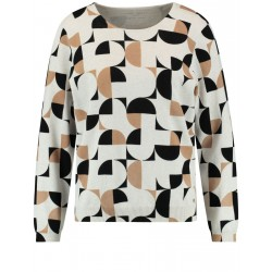 Sweater with graphic pattern by Gerry Weber Casual