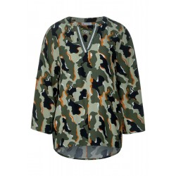 Bluse mit Camouflage by Street One
