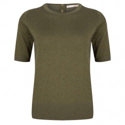 Short sleeve pullover in metallic look by Esqualo