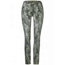 Denim cargo avec camouflage by Street One
