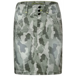 Denim skirt with camouflage by Street One