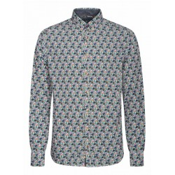 Modern fit: Patterned shirt by Colours & Sons